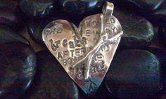 Hemingway Silver Pendant, by http://hisheartmyart.etsy.com