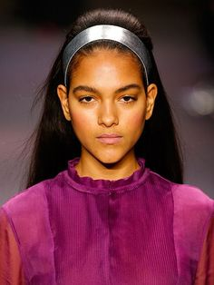 NYFW Fall 2015 Beauty Trends: Hair Accessories - Honor metallic silver headband | allure.com