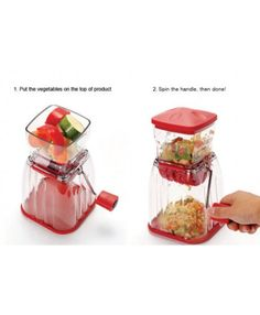 Easy, Fast, Safe and Simple to chop the vegetables! Convenient vegetable chopper! Slices fruits and vegetables in one swift!