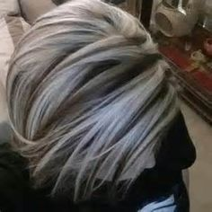 Silver highlights. Now that my hair is getting more gray…maybe I should let it happen and do this in reverse.