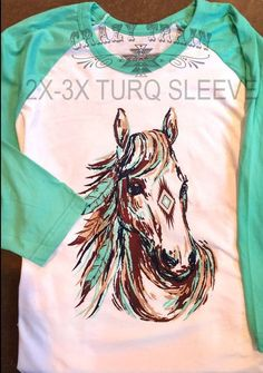 92ce0d1b54a Long shot horse shirt. Runs true to