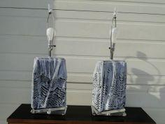 VAN TEAL Retro Lucite Lamps by blowenst @eBay