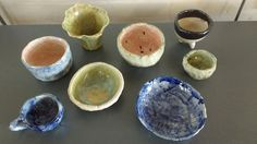 Those pinch pots again Pinch Pots, Student Work, Pudding, Desserts, Food, Tailgate Desserts, Deserts, Essen, Puddings