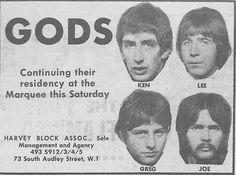 Gods with Greg Lake Latest Form, Emerson Lake & Palmer, John Mayall, Greg Lake, King Crimson, Progressive Rock, Rest In Peace, God, Musica