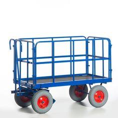 GTARDO.DE:  Handpritschenwagen mit Rohrgitterwänden, Tragkraft 1t / 1000 kg, Ladefläche 1530x730 mm, Luft, Maße 1800x840 mm 874,00 €
