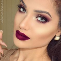 Major Fall Makeup Inspo by this gorgeous gal @cakeyconfessions  Lips using our •BERRY ME• matte liquid lipstick  Brows and Highlight @anastasiabeverlyhills ✨ Lashes @hudabeauty  #DoseofColors #DoseofPerfection