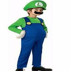 Children Funy Cosplay Costume Super Mario Luigi Brothers Plumber Fancy Dress Up Party Costume Cute Kids Costume  sc 1 st  Pinterest & Halloween Costumes Funny Super Mario Luigi Brother Costume for Kids ...