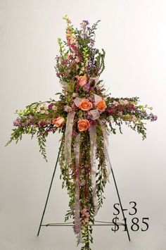 "Vickie's Flowers 720-685-8005 Your Colorado Wedding Florist Specialist"" - standing sprays"