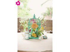 Decoración de boda con jaulas de pájaro