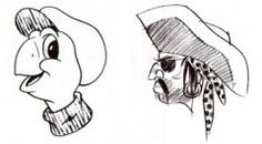 Drawing the turtle, pirate, donkey or bear.