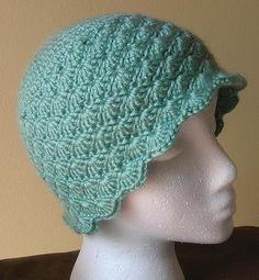 Crochet Gulf Shores Scalloped Beanie Hat - Free Pattern