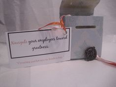 THIS IS A SAMPLE OF WHAT I CREATE! This kit contains an antique compass, beads, ribbon, gift box, and business card with catch phrase. Cold Calling, Compass, Business Cards, Attraction, Stuff To Do, Ribbon, Kit, Antique, Beads