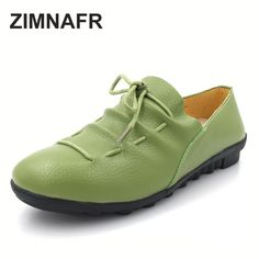 bd3e69bcc108 ZIMNAFR BRAND 2017 WOMEN CASUAL SHOES GENUINE LEATHER FLATS MOM FASHION  COMFORTABLE AUTUMN SHOES SIZE 35