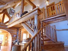 Custom built home with superb quality craftsmanship.  Locally built by Bronson Log Homes.