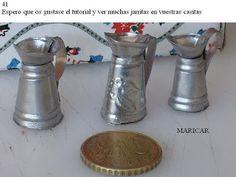 Este es un tutorial para aprender a hacer jarritas con metal MATERIALES -metal(Estaño,Aluminio,Latón,etc...) -cúter y tijera -buril -patró...