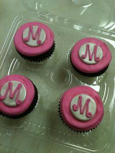 Monogram Cupcakes - triflescakes.com