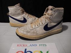 VTG OG 1983 Nike Legend PLAYER SAMPLE size 12 White Royal Korea pre Jordan air #Nike #AthleticSneakers