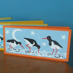 Oystercatcher Notecards x 4  £4.50