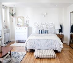 Tour this All White Bohemian Bedroom Gallery - Style Me Pretty