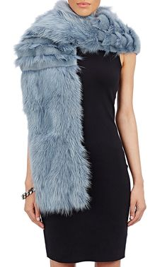 Lanvin Fur Stole at Barneys New York Olivia Palermo Outfit, Faux Fur Stole, Designer Scarves, Outfit Combinations, Long Scarf, Barneys New York, Winter Wardrobe, Simple Outfits, 1 Piece