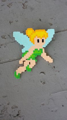 Tinkerbell perler beads by BurritoPrincess