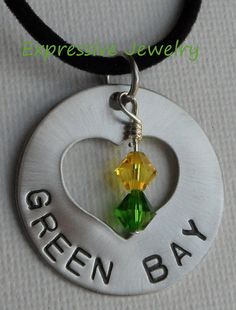 Green Bay Packers Necklace by ExpressiveJewelry2 on Etsy, $25.00