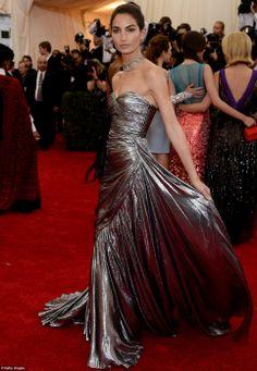 Lily Aldridge in Michael Kors at Met Gala 2014
