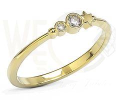 Pierścionek z żółtego złota z cyrkoniami Swarowski. /582 PLN/ Yellow gold ring with Swarovski cubic zirconia   #yellowgold #ring #zirconia