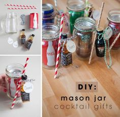 DIY Mason Jar Cocktail Gifts for Christmas!