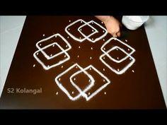 latest sikku kolam designs with 6 dots - simple melika muggulu - easy rangoli designs with dots - YouTube