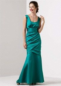 My moms dress for my wedding but in peacock (dark teal almost black)