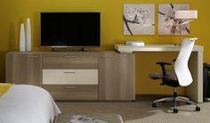 KLEM, furniture for hospitality - Jasper Group Brand Hospitality, Cosmos, Guest Room, Office Desk, Corner Desk, Jasper, Loft, Geometric Patterns, Arrow Keys