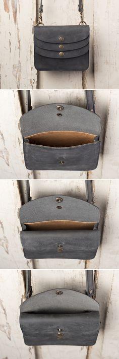 The Triple Pocket Crossbody | Full Grain Leather | 41 Year Warranty | $98.00