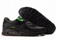 Ken Griffey Shoes Nike Air Max 90 Black Green Fashion [Nike Air Max 90 - Featuring green Nike branding and eyestay, the Nike Air Max 90 Black Green Fashion shoes are very outstanding. Black upper is made of mesh and synthetic leather. Nike Free Shoes, Nike Shoes Outlet, Mens Nike Air, Nike Men, Air Max 90 Black, Wholesale Nike Shoes, Cheap Nike Air Max, Cheap Air, Nike Elite Socks