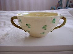 Vintage  Belleek China Soup or Fruit Compote by GiftsFromFlutters, $74.95