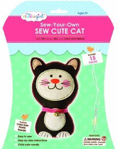 My Studio Girl Sew Cute Kit, Cat by My Studio Girl [Toy]: Amazon.co.uk: Toys & Games