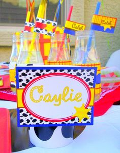 JESSIE Party - Toy Story - FOOD Labels/PLACE Cards - Cowboy - Western Party - Girls Birthday Party- Krown Kreations