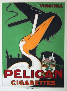 Pelican Cigarettes c.1930  Charles Yra