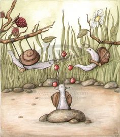 Circus Snails by *pebblepixie