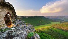 Крымские пейзажи  - вид из пещерного города