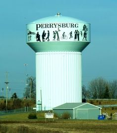 Perrysburg is on pintrest! Cleveland Ohio, Cleveland Rocks, Perrysburg Ohio, Toledo Ohio, Tank I, Roadside Attractions, Water Tower, Where The Heart Is, Windmill