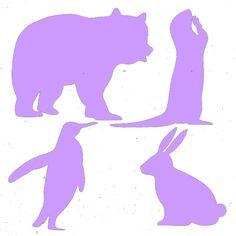 Fichier sst ** ours lapin pingouin loutre ** pour la silhouette cameo