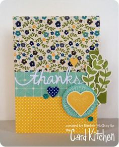 Thanks Card by Kimber McGray for the Card Kitchen Kit Club; December 2013 Card Kitchen Kit