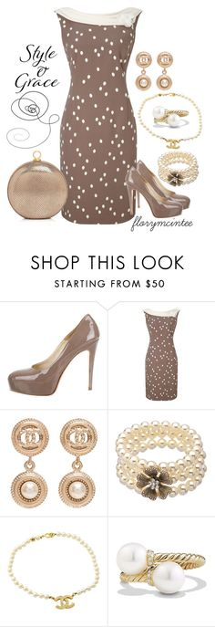 """""""Style & Grace"""" by florymcintee ❤ liked on Polyvore featuring Brian Atwood, Jacques Vert, Chanel, David Yurman and Halston Heritage"""