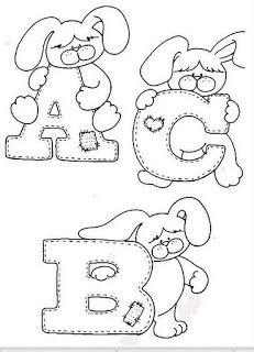 Oh my Alfabetos!: Alfabeto de conejitos para colorear.