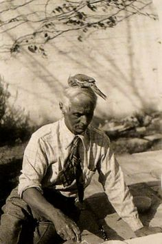 MONDOBLOGO: my man max (ernst). note parrot on top of his head.