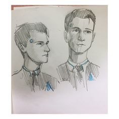 Detroit become human Connor sketches