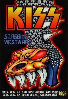 Concert Rock, Kiss Concert, Paul Stanley, Gene Simmons, Vintage Concert Posters, Vintage Posters, Vintage Movies, Helsinki, Kiss Records