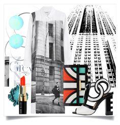 """Shirt Dress-1"" by capricat ❤ liked on Polyvore featuring DKNY, Aperlaï, Kat Maconie, Victoria Beckham, Bobbi Brown Cosmetics and shirtdress"
