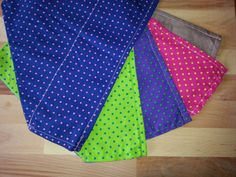 Set of 5 large, over the collar bandanas. by TheCraftyDogue on Etsy
